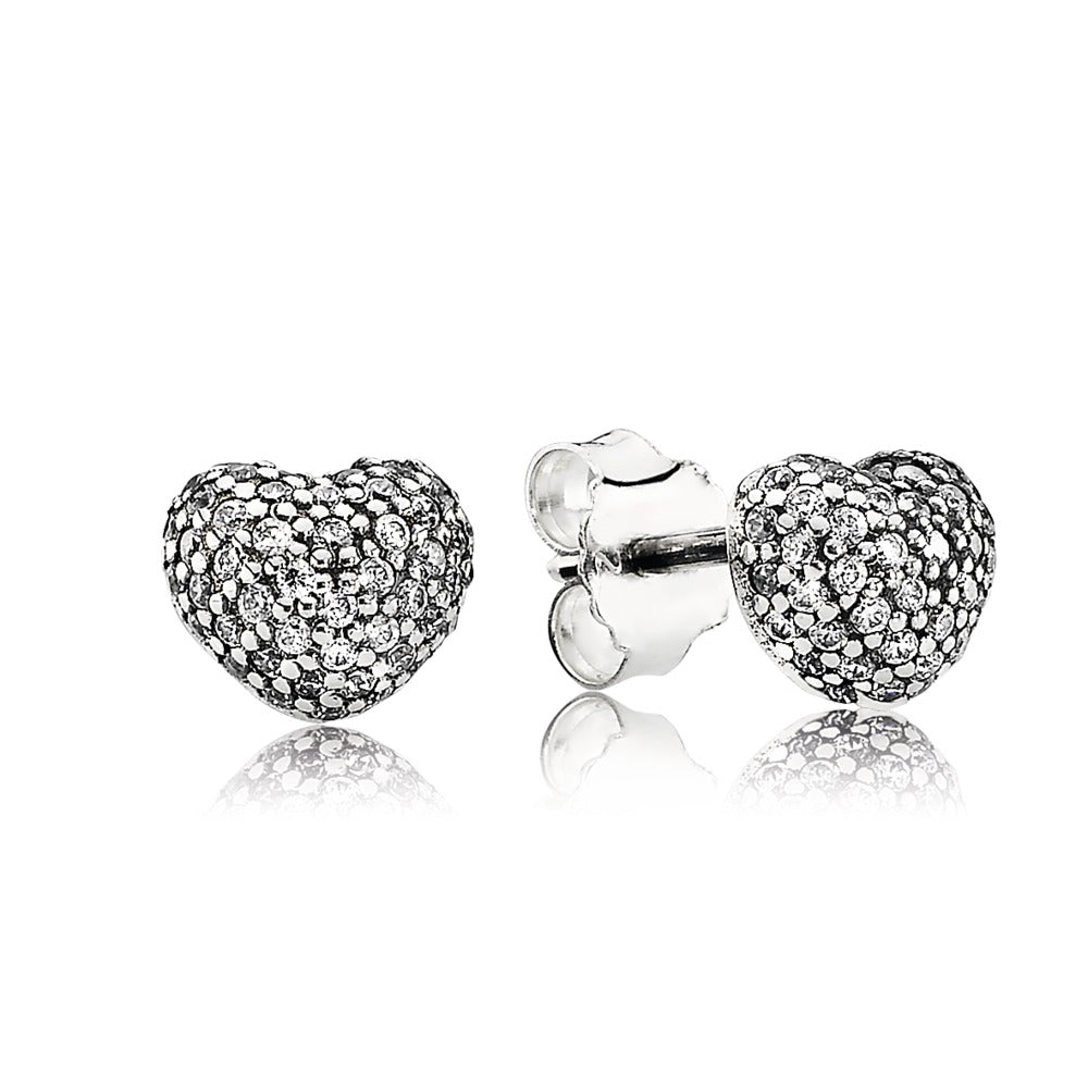 In my heart stud earrings by Pandora.