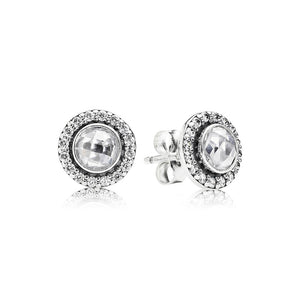 Brilliant Silver Stud Earrings by Pandora Jewelry here in Santa Fe.