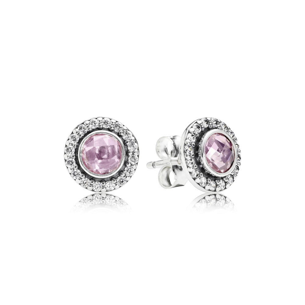 A pair of Silver Stud earrings by Pandora here in Santa Fe.
