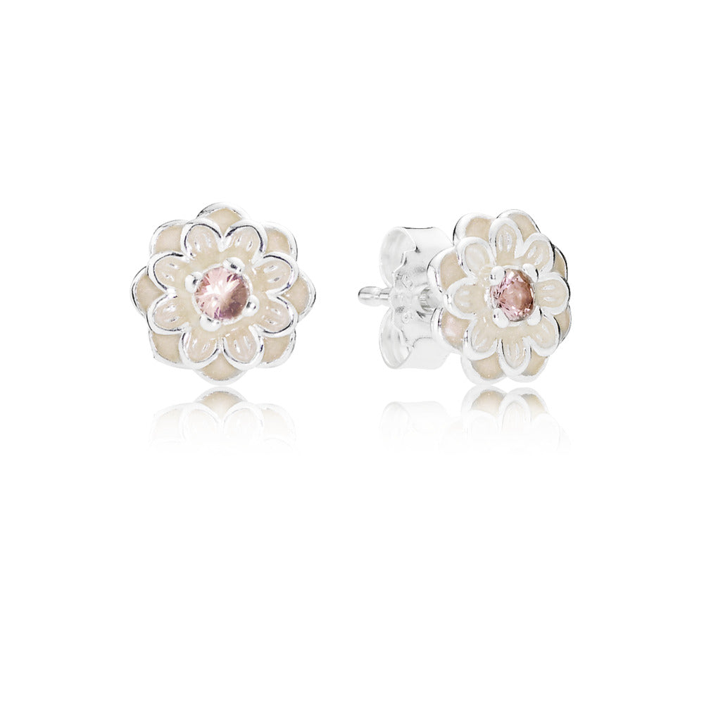 Earring Studs Blooming with Dahlia by Pandora.