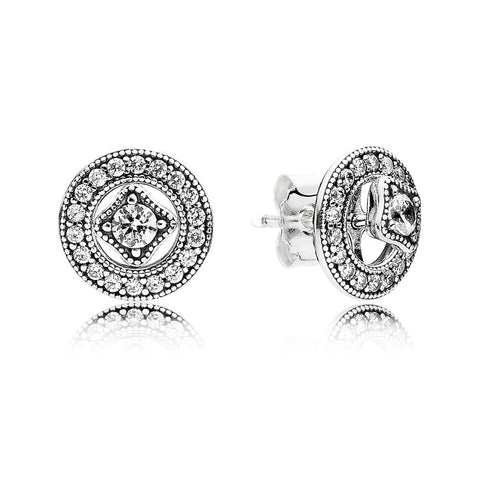 Detachable stud earrings Milgrain Details by Pandora