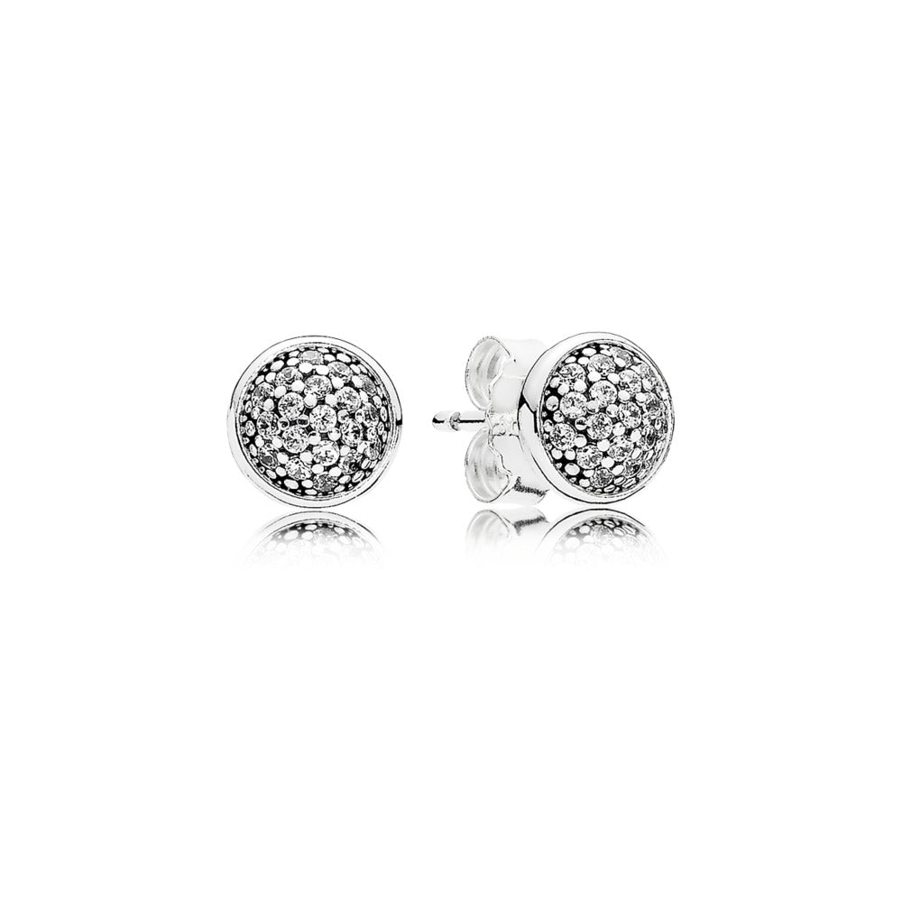 Stud Earrings Dazzling Droplets with Clear Cubic Zirconia