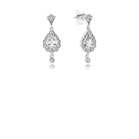 Heraldic Radiance Earrings, Clear CZ