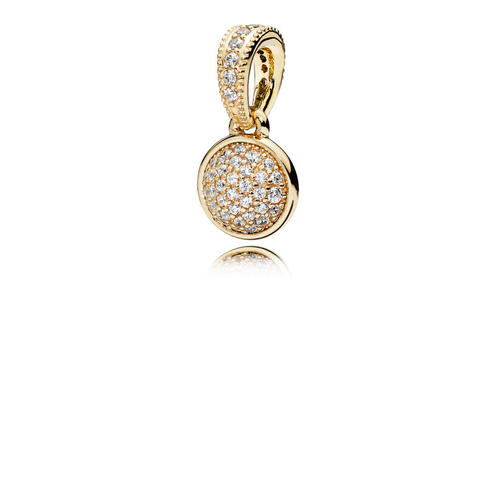 A 14k Gold pendant by Pandora.