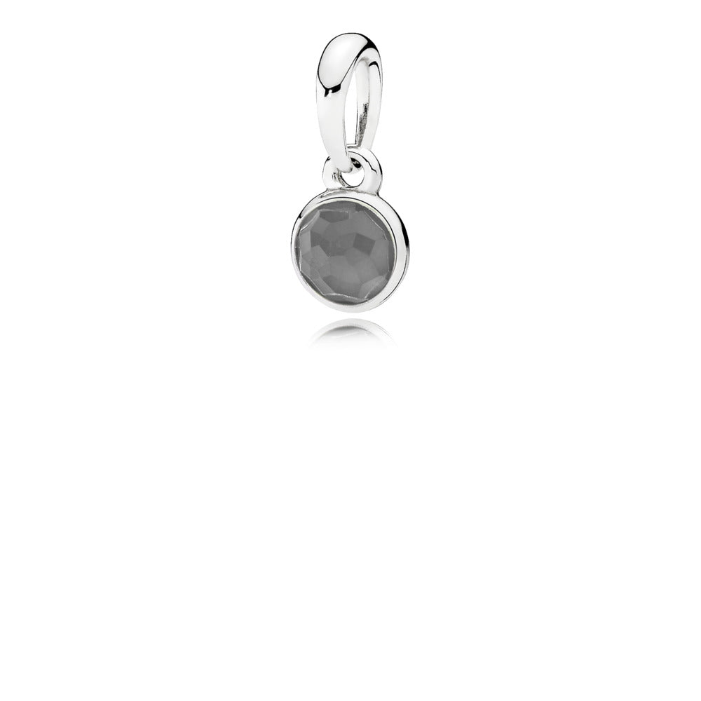 Pendant June Droplet with Grey Moonstone by Pandora