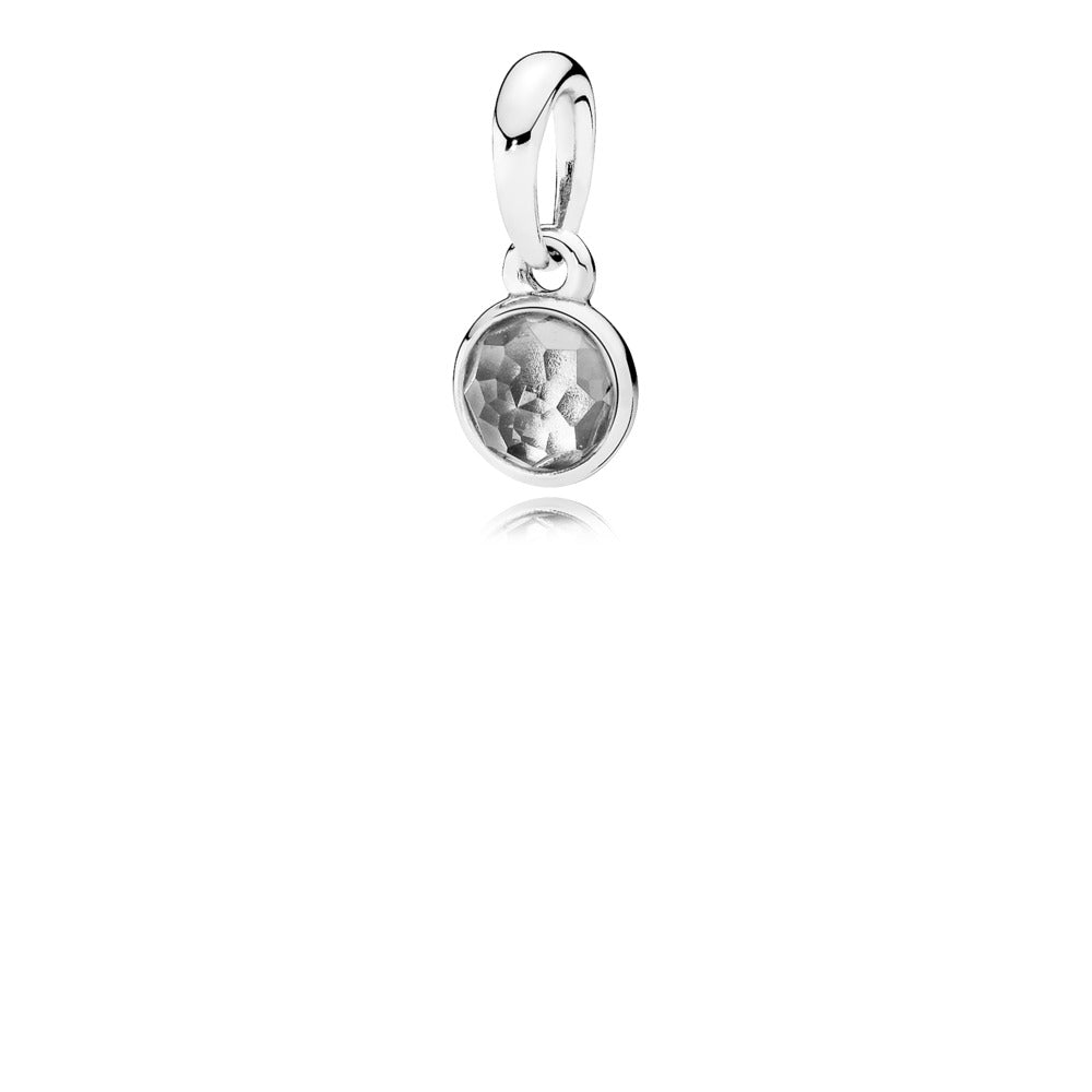 Pendant April Droplet with Rock Crystal