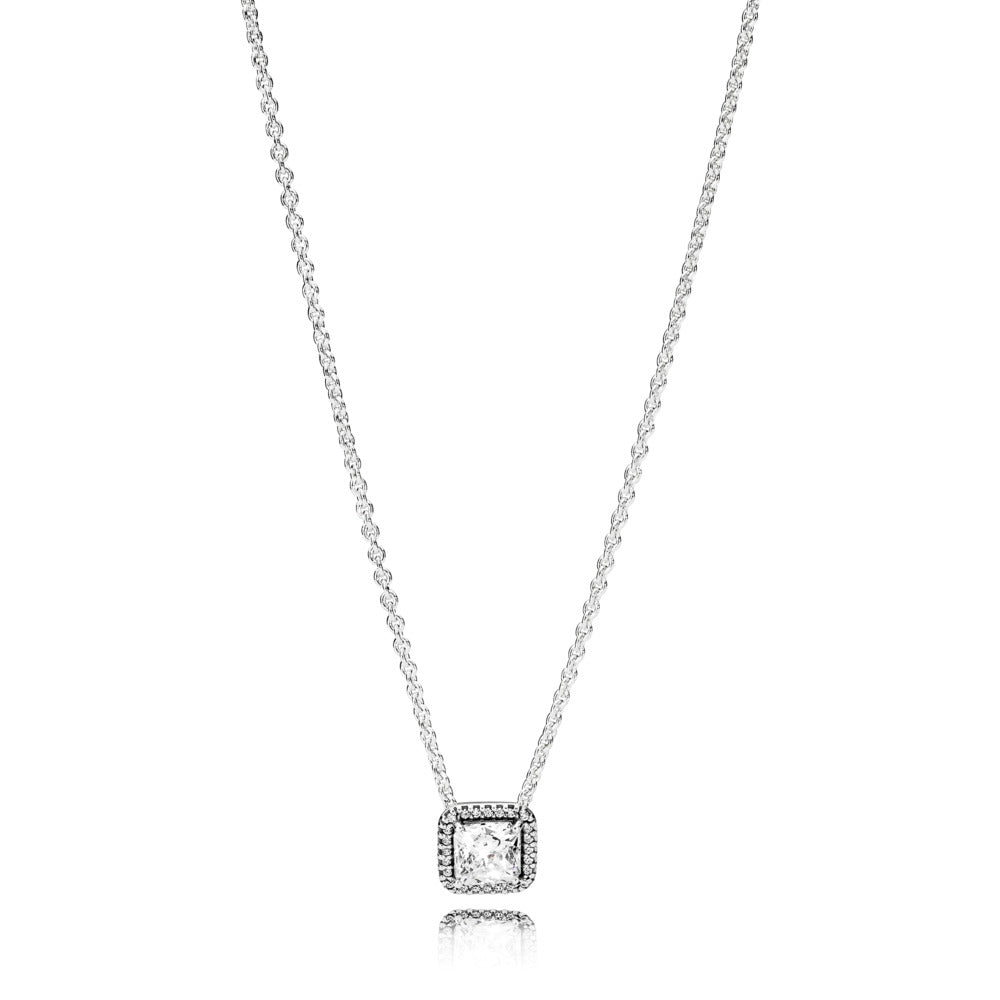 A cubic zirconia necklace by Pandora.