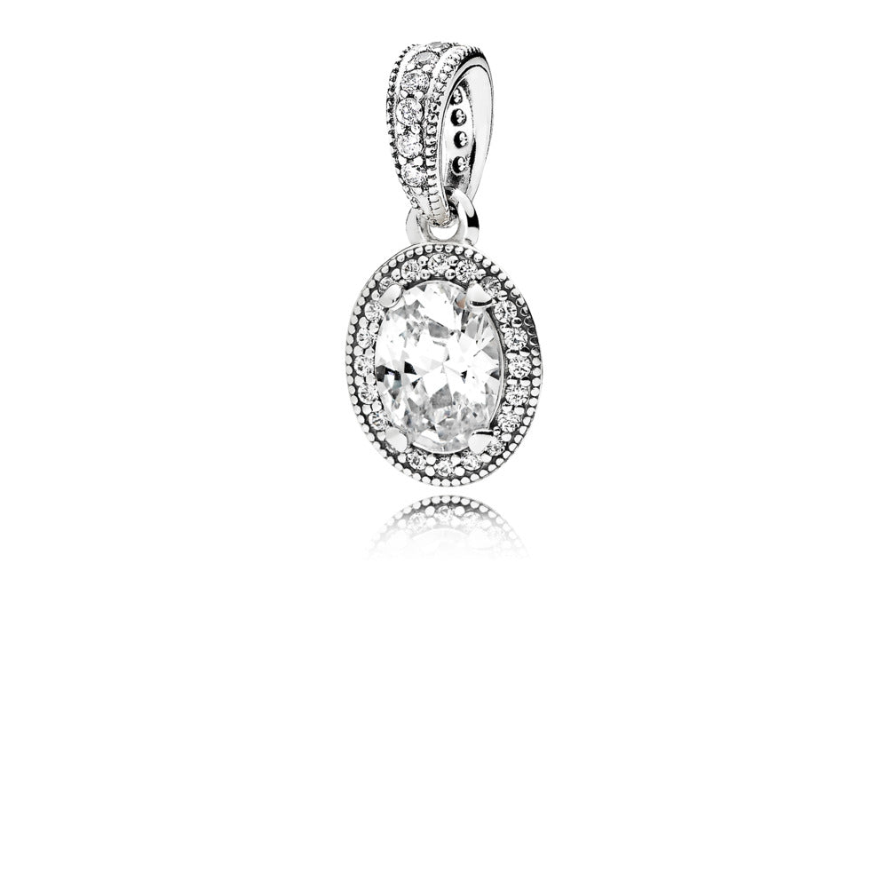 A sterling silver pendant by Pandora.