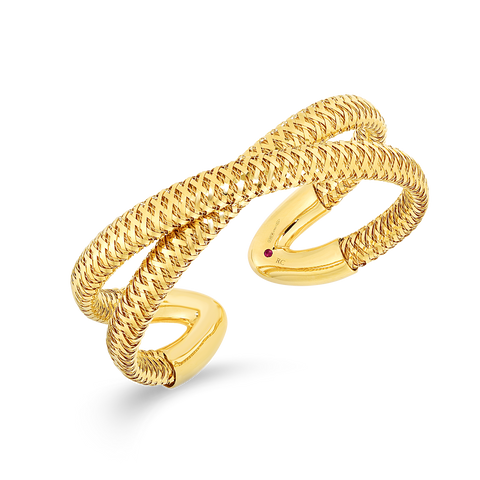 A flexible gold bangle from roberto coin Santa Fe Jewelry