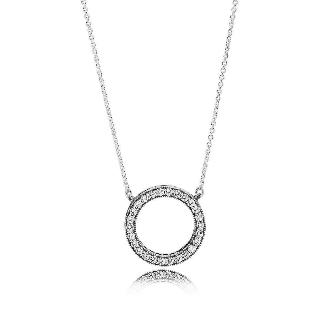 A Halo necklace by Pandora.