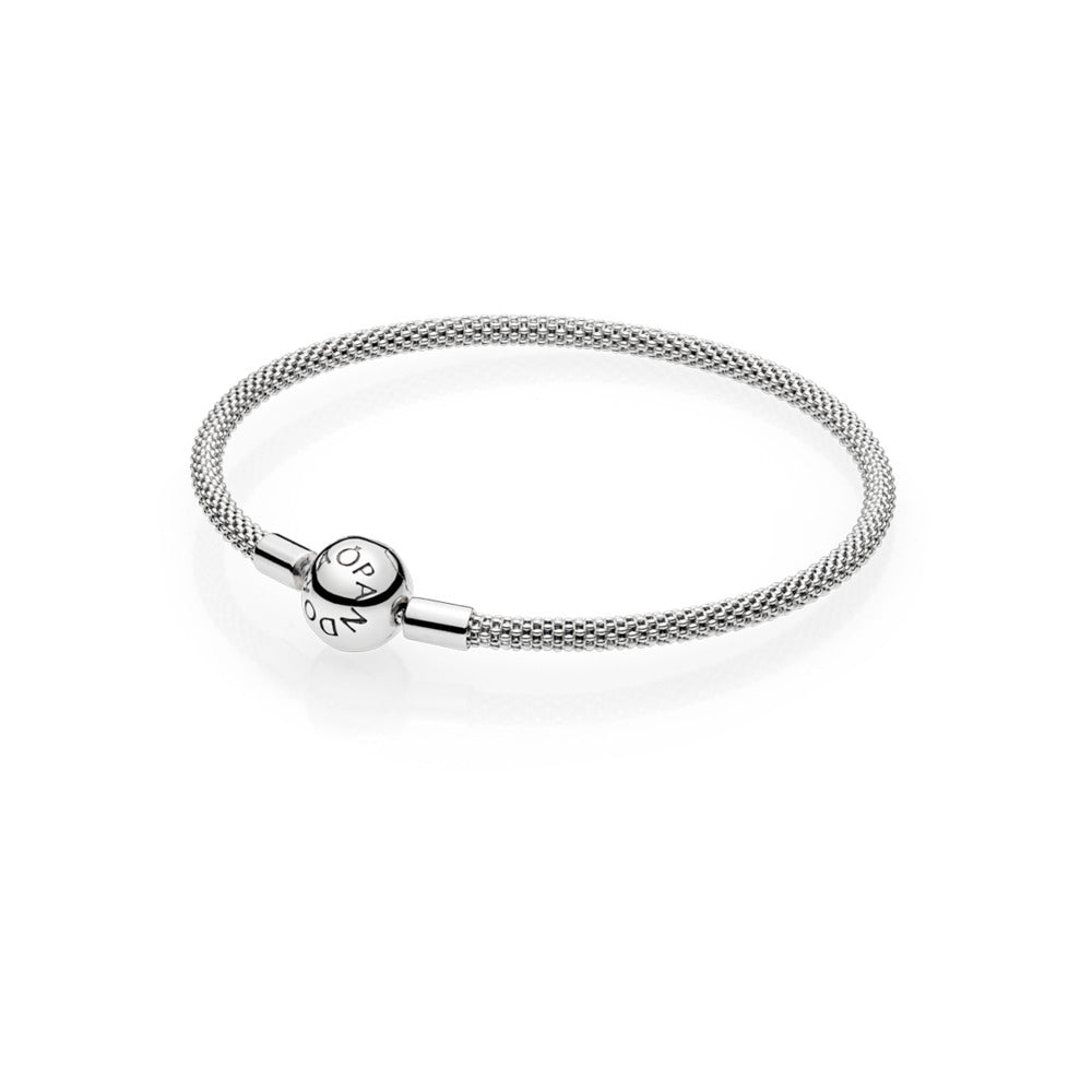 Mesh bracelet in sterling silver with titanium core