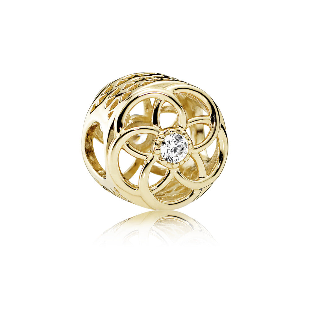A gold loving bloom charm 14K gold by Pandora.