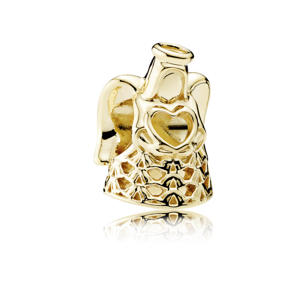 A Golden Angel Charm by Pandora Jewelry Santa Fe.
