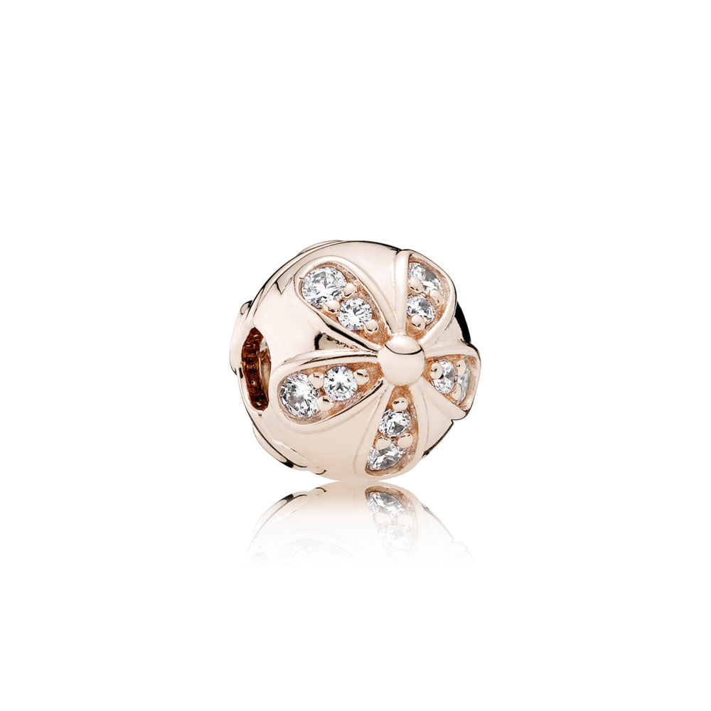PANDORA Rose Clip Dazzling Daisies with Clear Cubic Zirconia