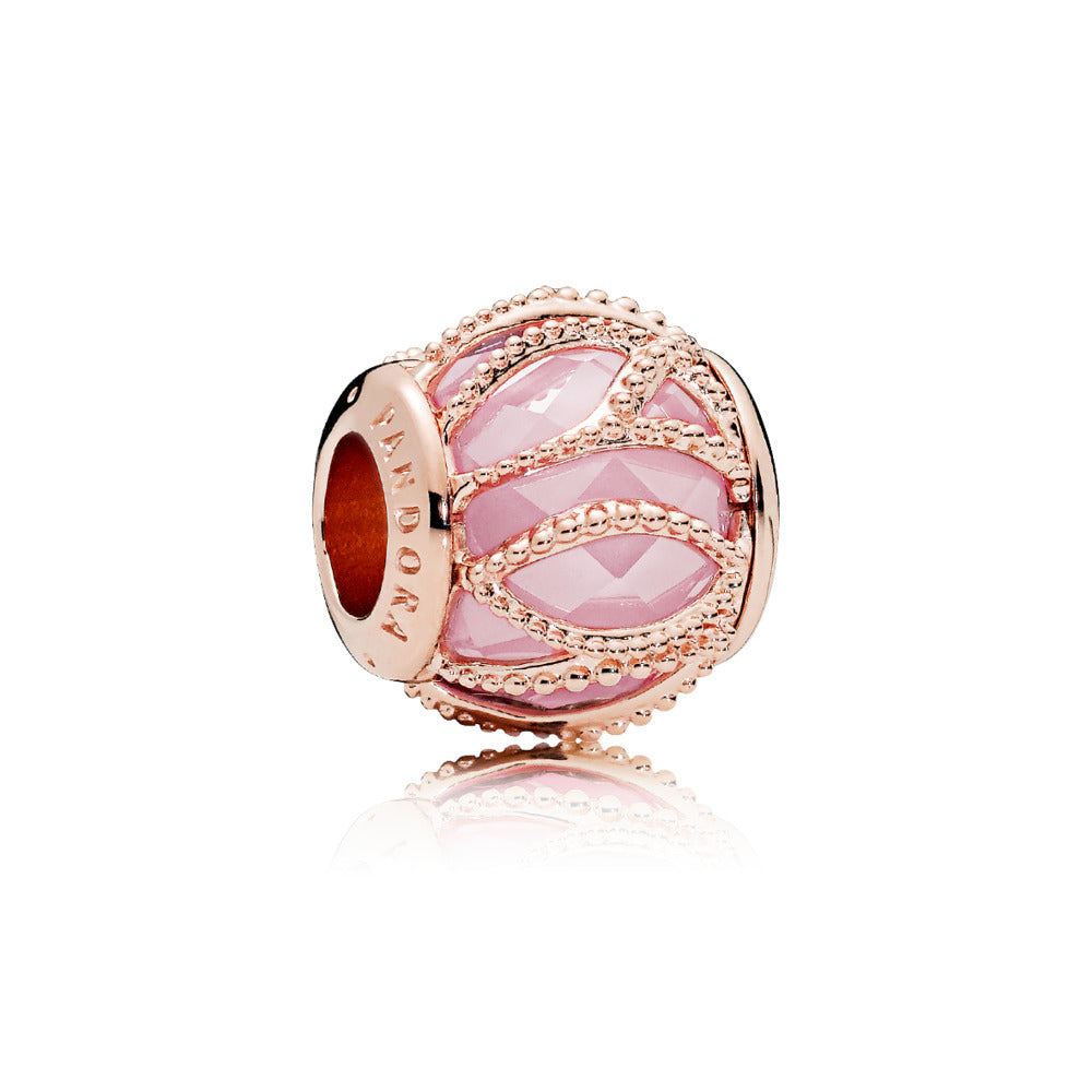 A Pink glass bead charm by Pandora here in Santa Fe.