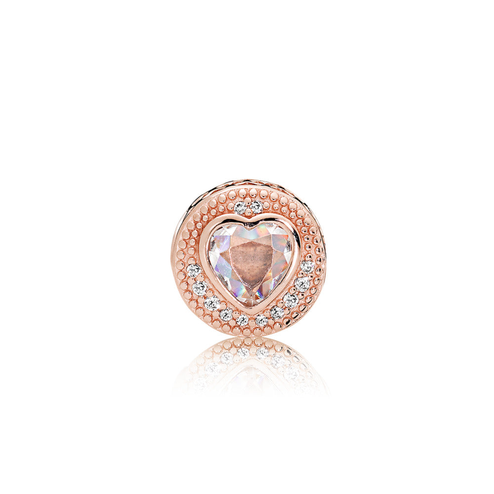 ESSENCE charm in PANDORA Rose with clear cubic zirconia