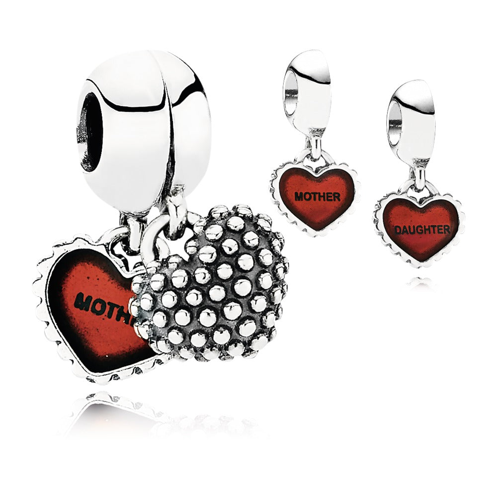 Piece of my heart charm by Pandora. Seperates into two.