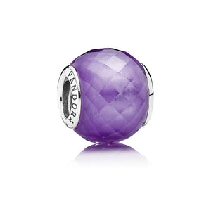 Petite Facets in purple charm by Pandora.