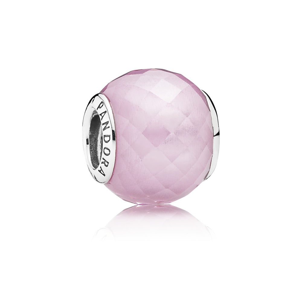 Petite Facets in pink charm by Pandora.