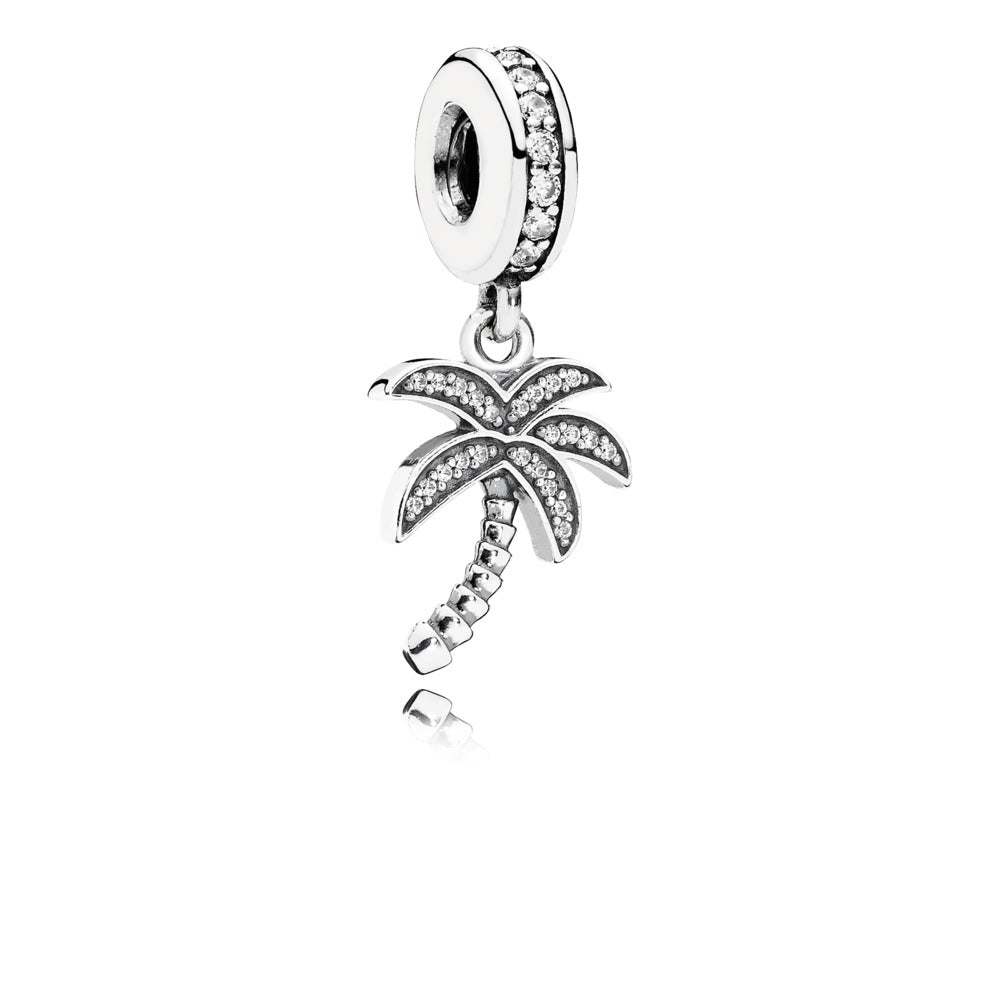Sparkling Palm Tree, Clear CZ