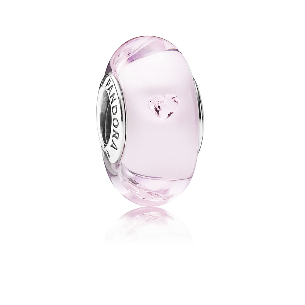 Pink Hearts charm by Pandora.
