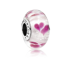 A Wild Hearts Murano glass charm by Pandora.