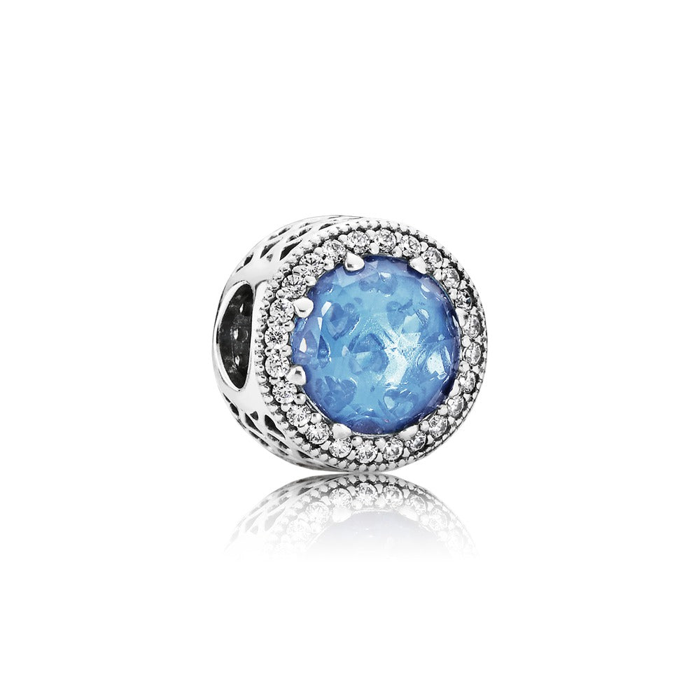Radiant Heart Aqua Charm by Pandora.