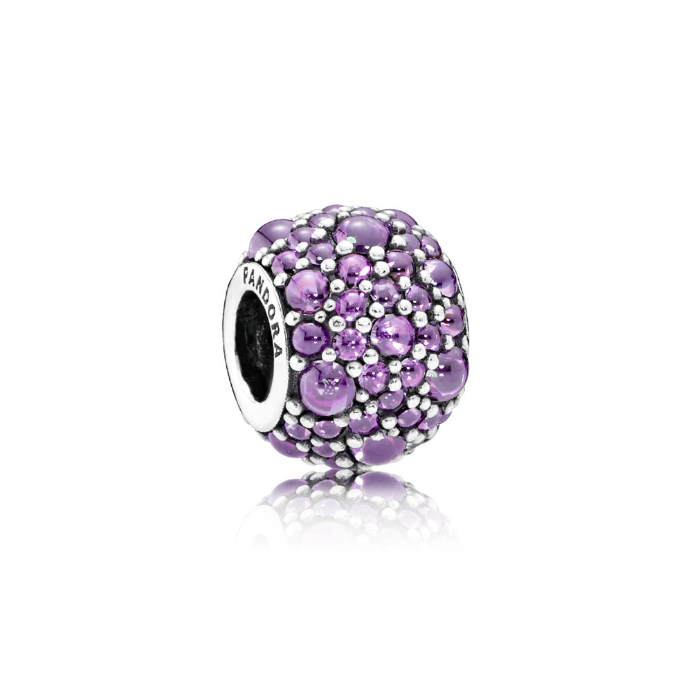 Purple Shimmering Droplets by Pandora