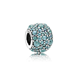 Shimmering teal droplet charm by Pandora.
