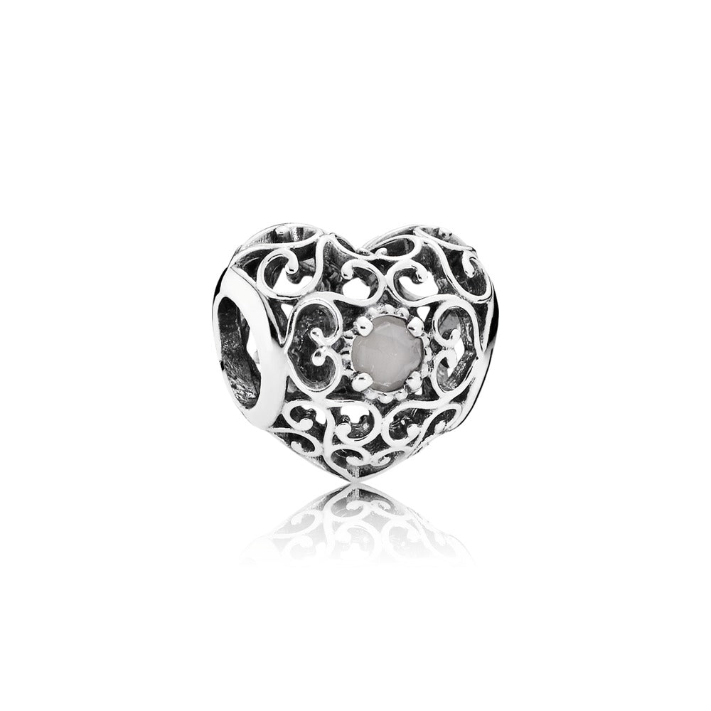June Signature Charm Grey Moonstone by Pandora.