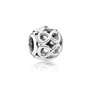 Infinite Shine Charm by pandora. Looks like multiple infinity loops.