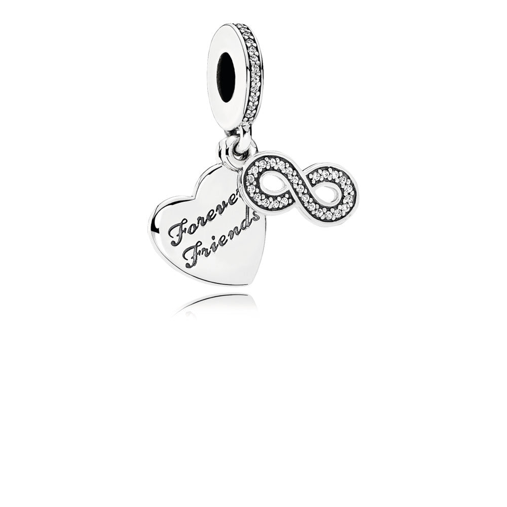 Best friends forever with clear cubic zirconia charm by Pandora.