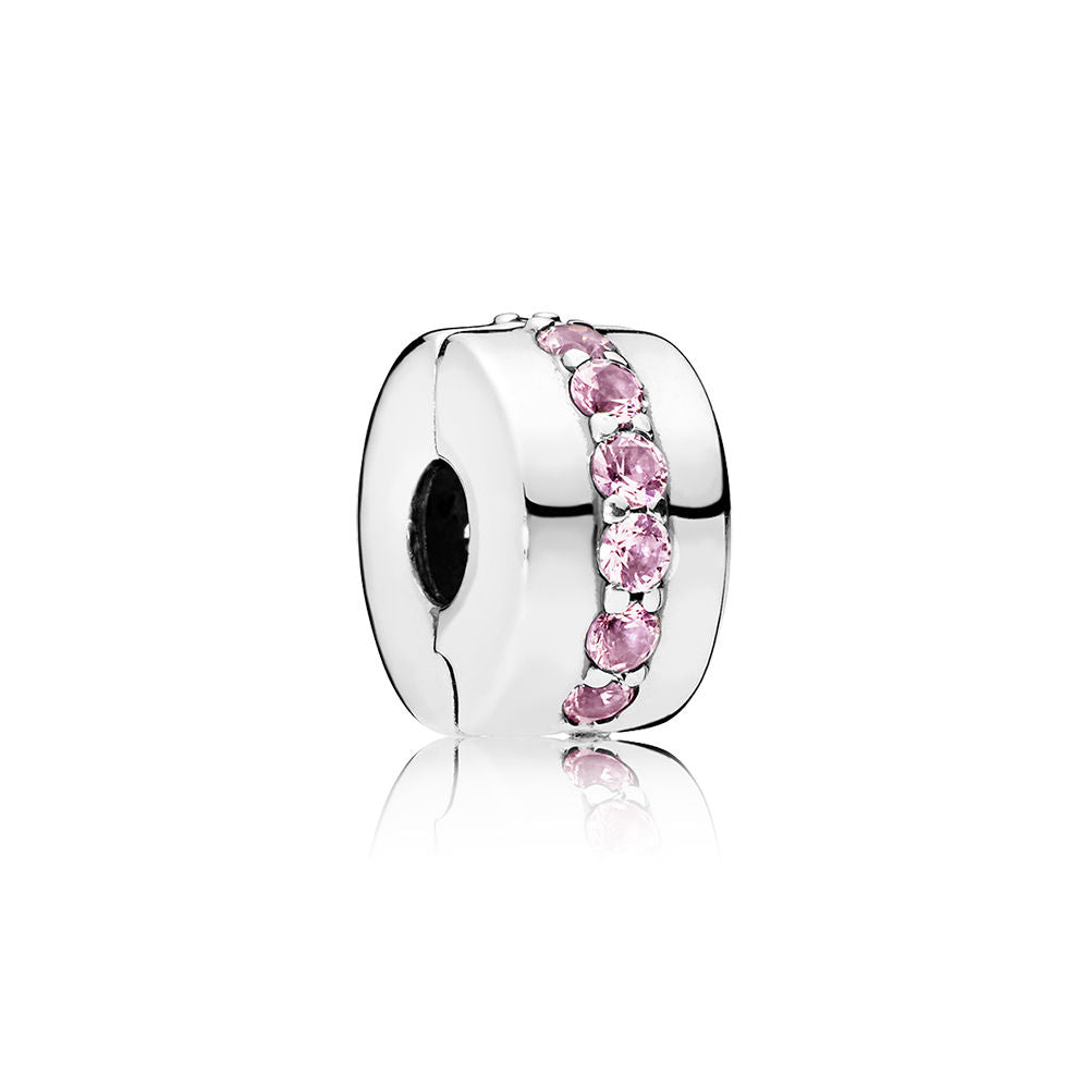 Shining Path Clip With Pink CZ