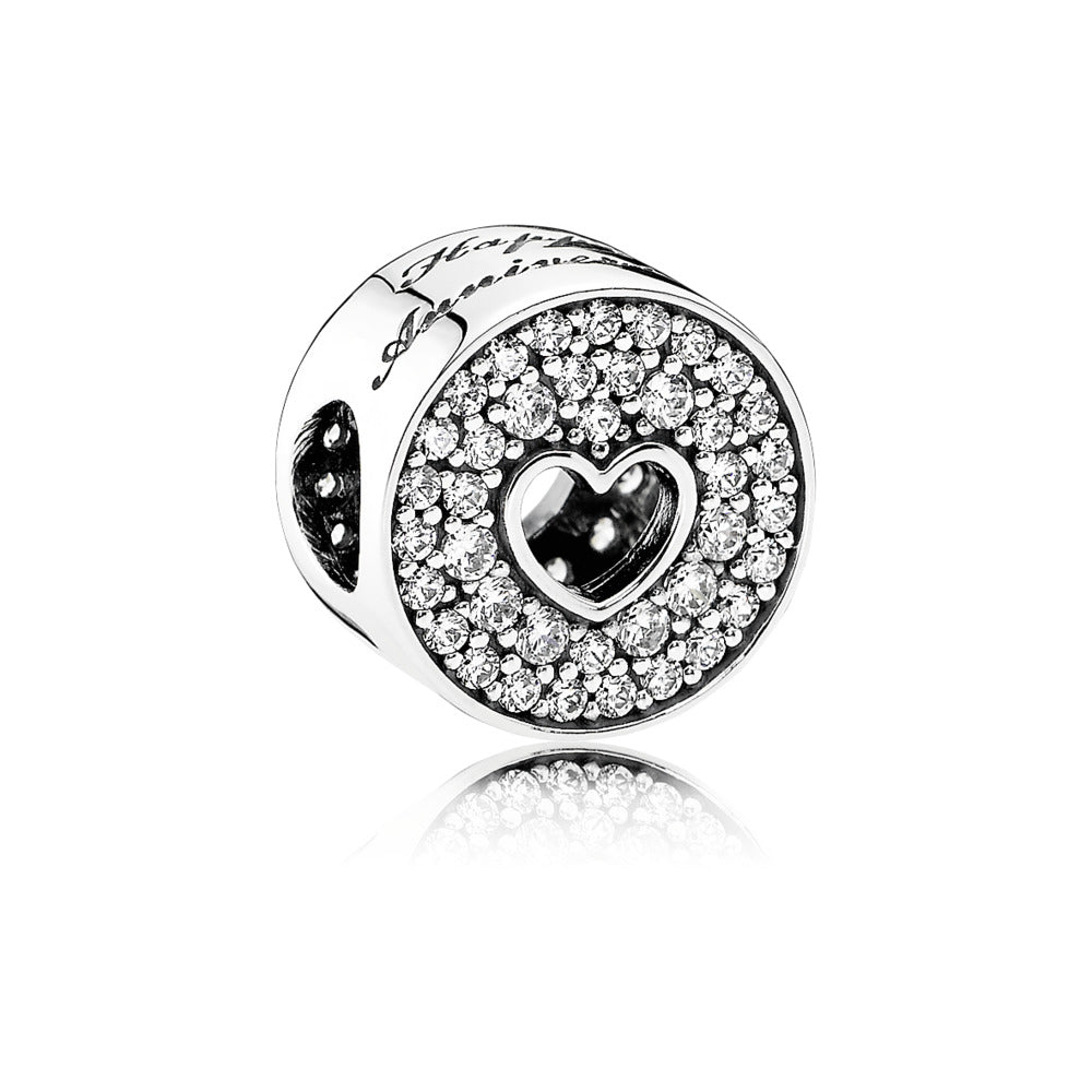 A heart charm circle by Pandora Jewelry here in Santa Fe.