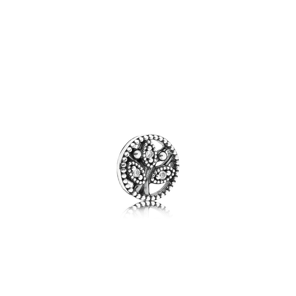 Family tree charm petite in sterling silver by Pandora.