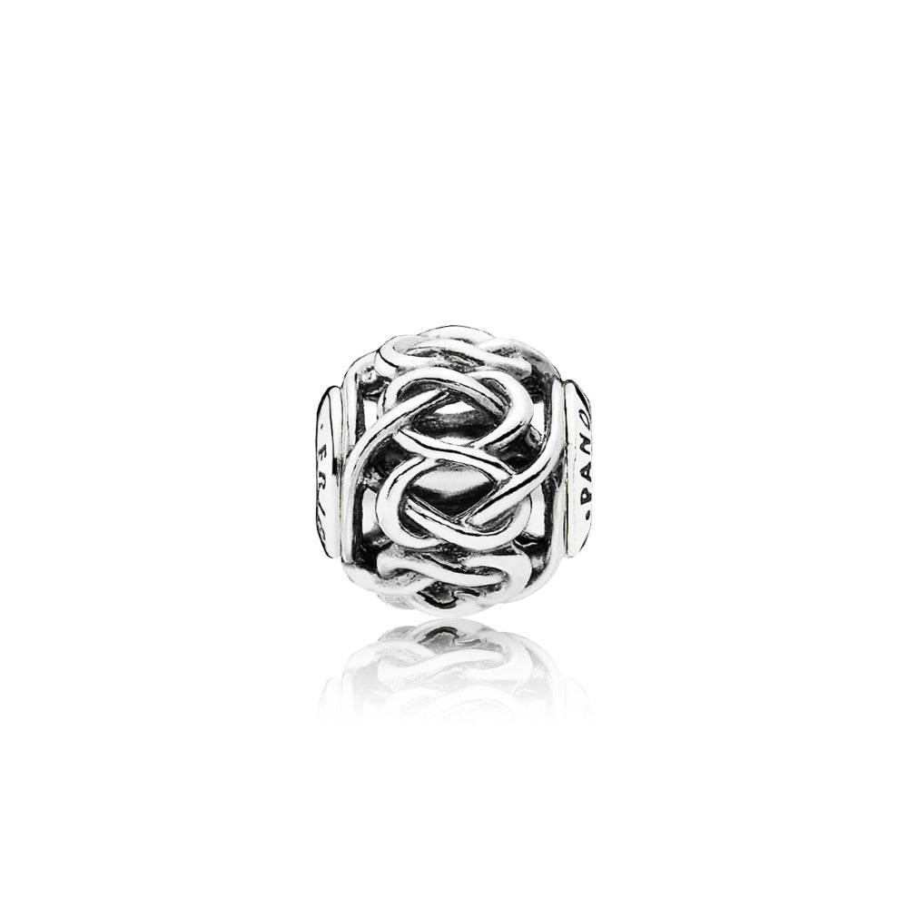 A friendship charm by Pandora.