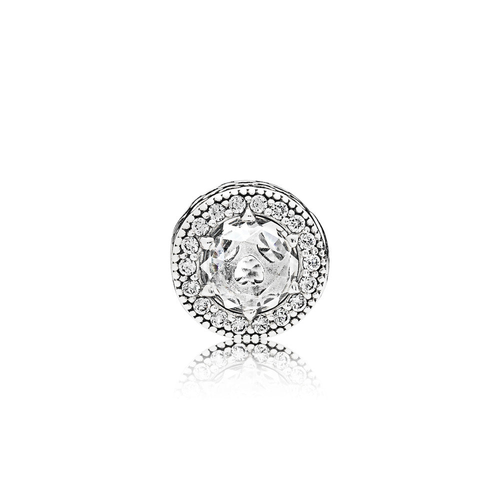 Essence charm with sterling silver and cut out heart by Pandora.