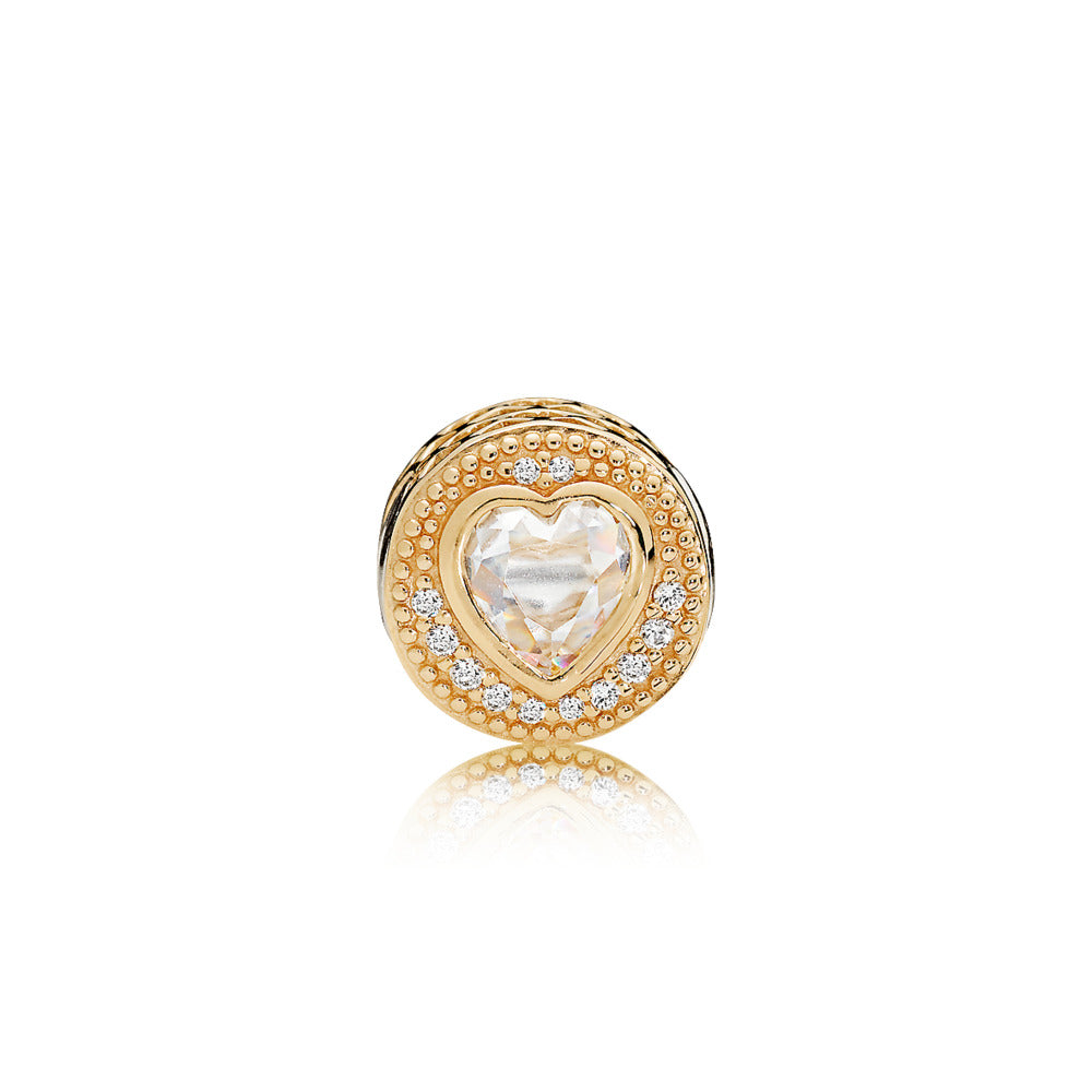 ESSENCE charm in 14k gold with clear cubic zirconia