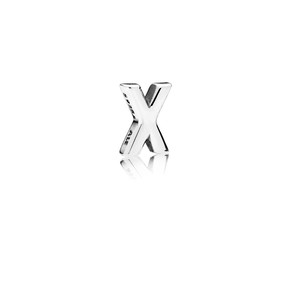 A charm of an X by Pandora.