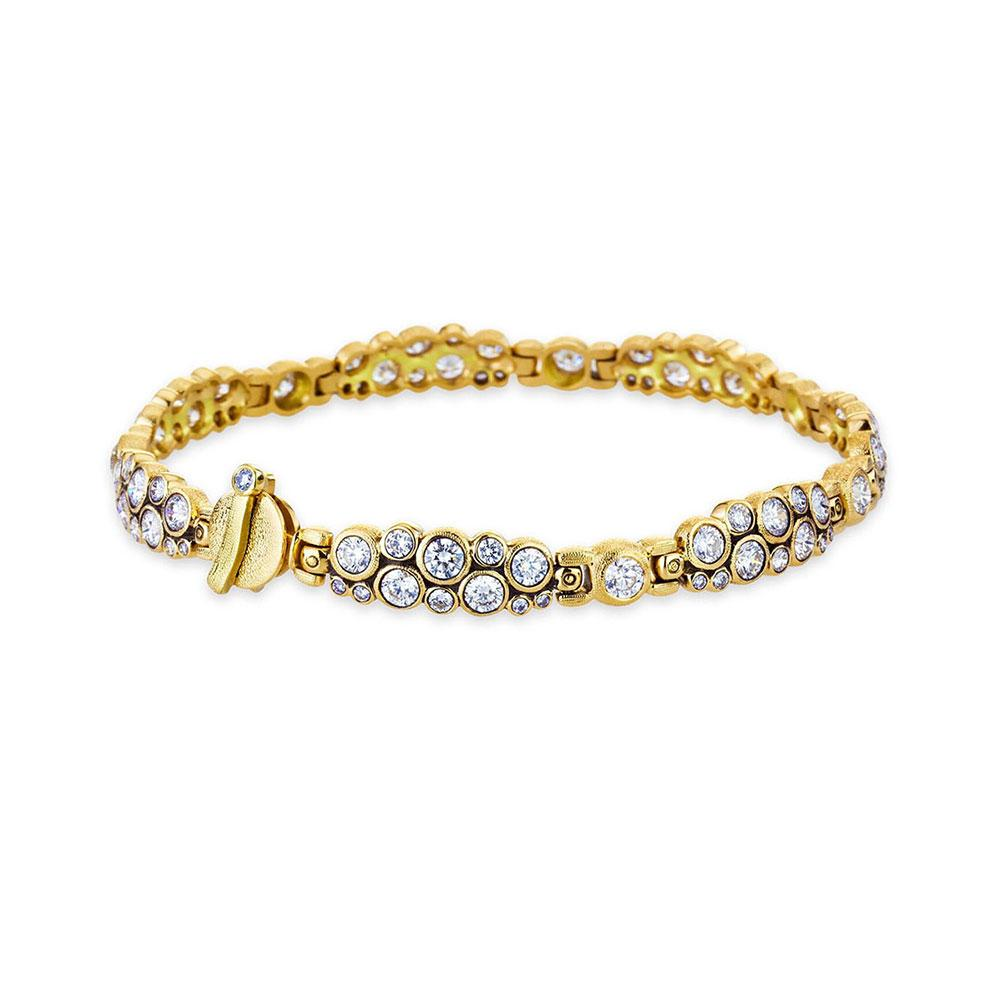 Alex Sepkus 18K Yellow Gold Diamond Cluster Bracelet