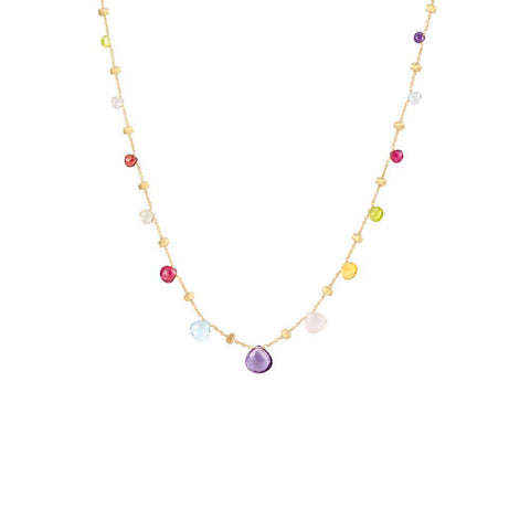 A Mixed Gemstone Necklace from the paradise collection of Marco Bicego Santa Fe Jewelry.