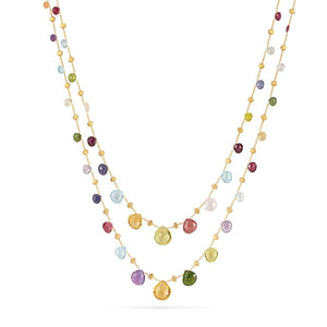 A Mixed Gemstone necklace from the paradise collection from Marco Bicego Santa Fe Jewelry.