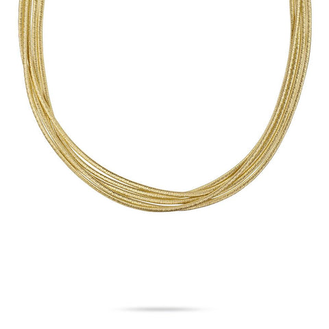A 5 strand necklace in gold by Marco Bicego Santa Fe Jewelry.