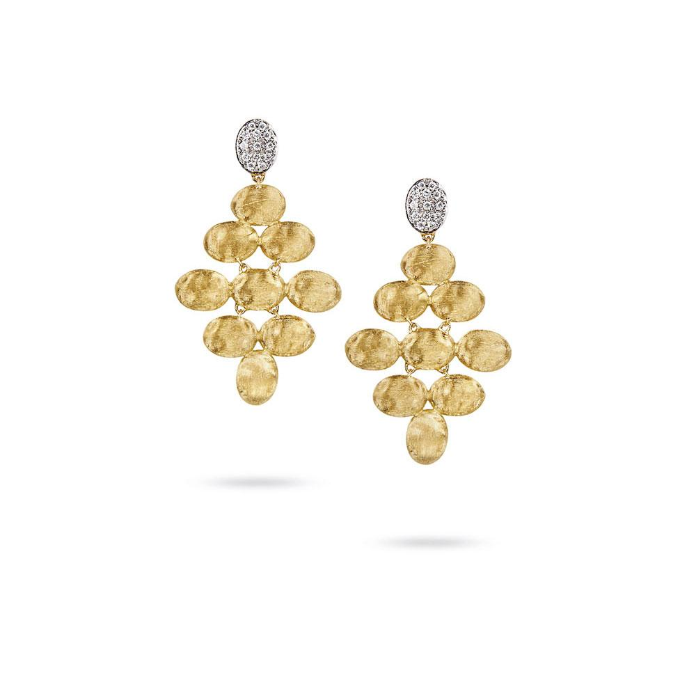 A pair of 18k Small Rhomboid Earrings by Marco Bicego Santa Fe Jewelry.