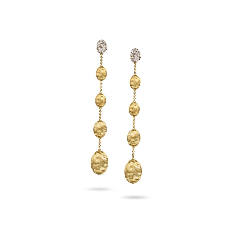 A pair of 18k Gold Drop Earrings by Marco Bicego Santa Fe Jewelry