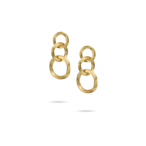 A pair of link drop earrings in gold by Marco Bicego Santa Fe Jewelry.