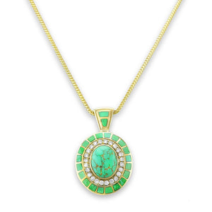 A Carico Lake Pendant by Gold House Santa Fe.