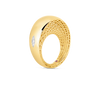 A diagonal profile of a gold ring made by Roberto Coin Santa Fe Jewelry