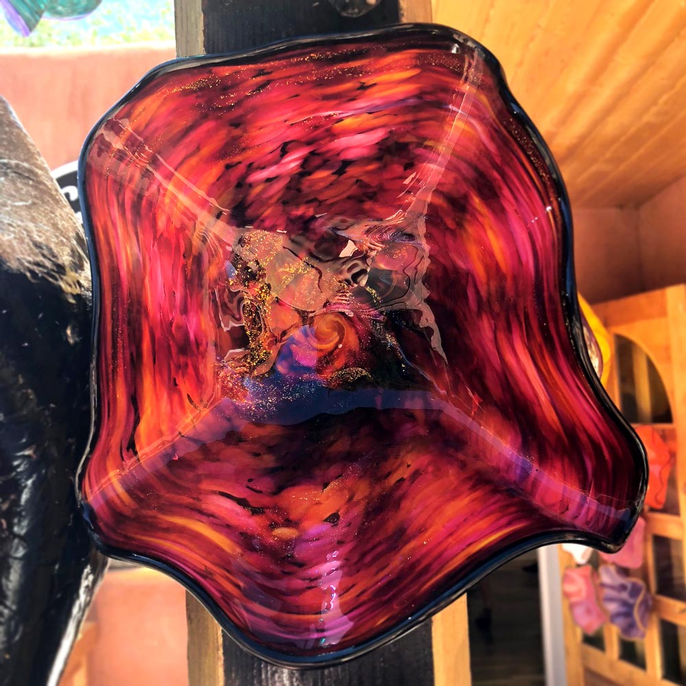Marty White Elk Amazing Fire Colors Vision In Glass Wall Art