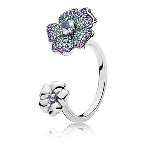 Glorious Blooms Ring, Multi-Colored CZ